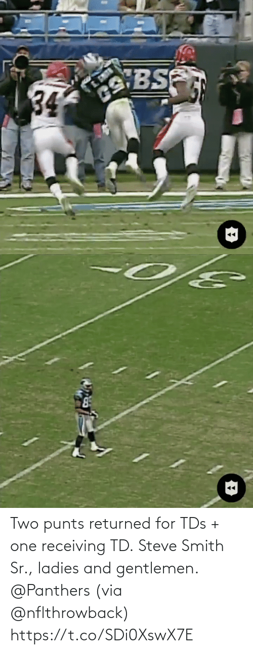 ladies: Two punts returned for TDs + one receiving TD.  Steve Smith Sr., ladies and gentlemen. @Panthers (via @nflthrowback) https://t.co/SDi0XswX7E