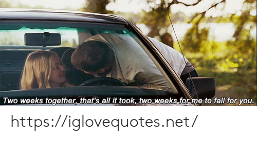 Fall, Net, and All: Two weeks together, that's all it took, two weeks for me to fall for you. https://iglovequotes.net/