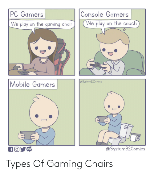 Types Of: Types Of Gaming Chairs
