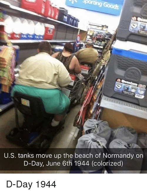 normandy: U.S. tanks move up the beach of Normandy on  D-Day, June 6th 1944 (colorized) D-Day 1944