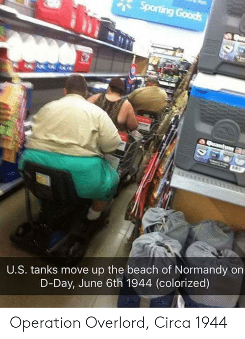 d-day: U.S. tanks move up the beach of Normandy on  D-Day, June 6th 1944 (colorized) Operation Overlord, Circa 1944