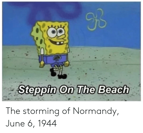 june 6 1944: Ub  Steppin On The Beach The storming of Normandy, June 6, 1944
