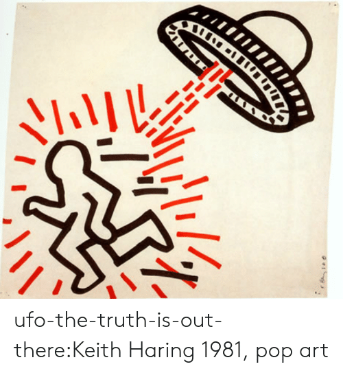 Pop, Target, and Tumblr: ufo-the-truth-is-out-there:Keith Haring 1981, pop art