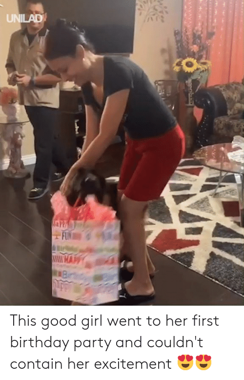Birthday, Dank, and Party: UNILAD This good girl went to her first birthday party and couldn't contain her excitement 😍😍