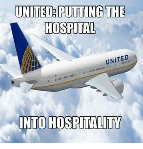 hospitality: UNITED PUTTING THE  HOSPITAL  UNITED  INTO HOSPITALITY