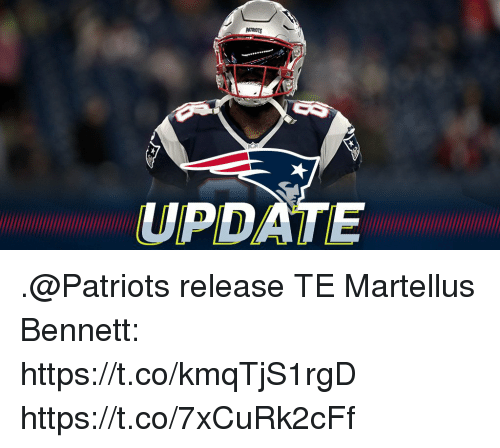 martellus: UPDATE .@Patriots release TE Martellus Bennett: https://t.co/kmqTjS1rgD https://t.co/7xCuRk2cFf