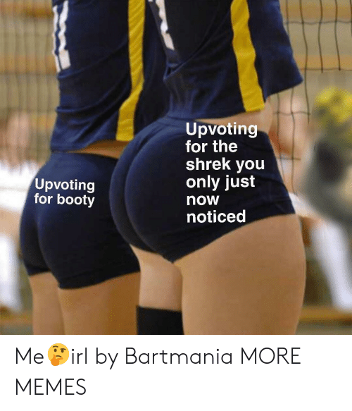The Shrek: Upvoting  for the  shrek you  only just  now  noticed  Upvoting  for booty Me🤔irl by Bartmania MORE MEMES