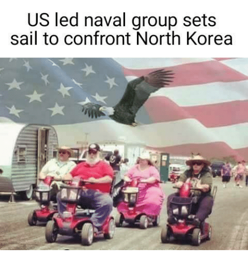 Confrontable: US led naval group sets  sail to confront North Korea