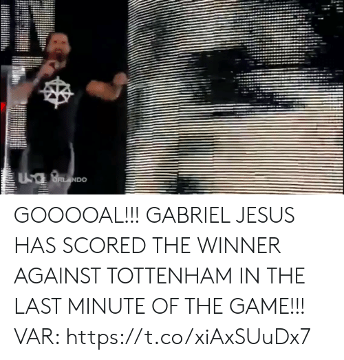 the winner: UsaBNDO GOOOOAL!!! GABRIEL JESUS HAS SCORED THE WINNER AGAINST TOTTENHAM IN THE LAST MINUTE OF THE GAME!!!  VAR: https://t.co/xiAxSUuDx7