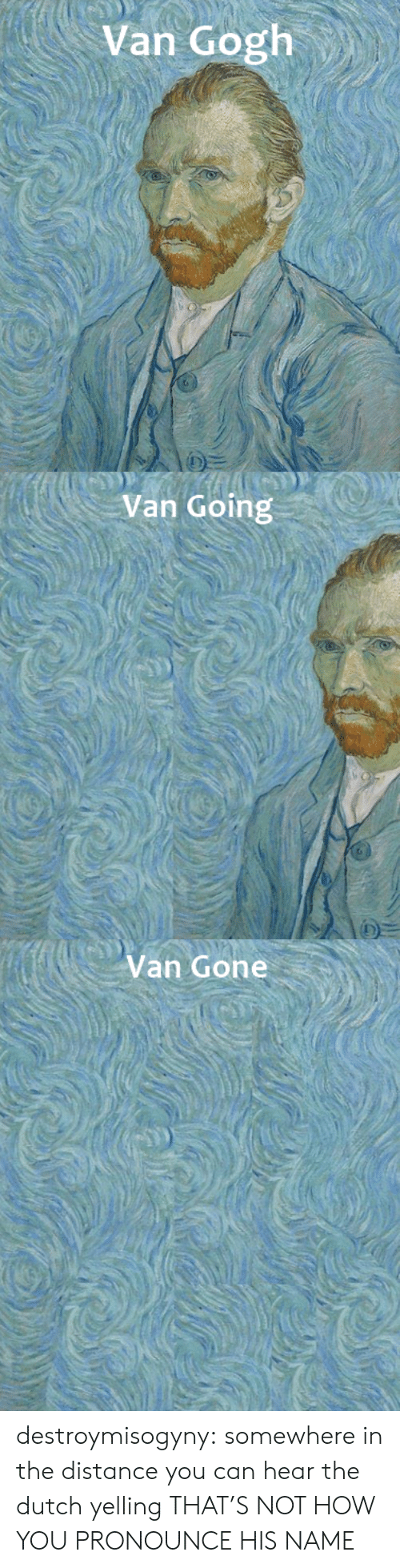 Tumblr, Blog, and Http: Van Gogh   Van Going   Van Gone destroymisogyny:  somewhere in the distance you can hear the dutch yelling THAT'S NOT HOW YOU PRONOUNCE HIS NAME