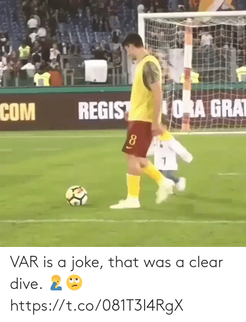 clear: VAR is a joke, that was a clear dive. 🤦‍♂️🙄 https://t.co/081T3I4RgX