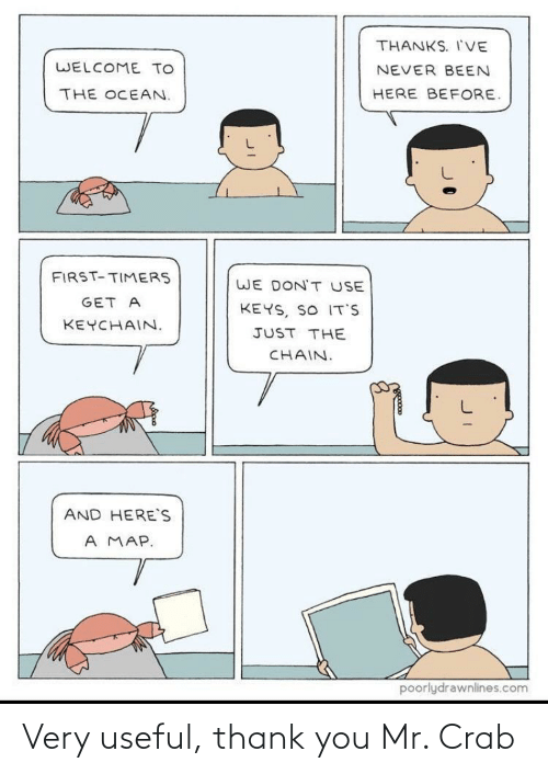 crab: Very useful, thank you Mr. Crab