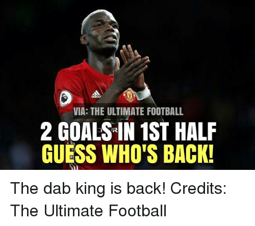 guess whos back: VIA: THE ULTIMATE FOOTBALL  2 GOALSIN 1ST HALF  GUESS WHO'S BACK! The dab king is back!  Credits: The Ultimate Football