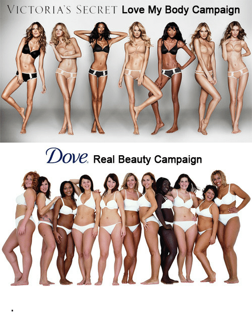 Real Beauty: VICTORIA'S SECRET Love My Body Campaign   Dove Real Beauty Campaign <p>.</p>