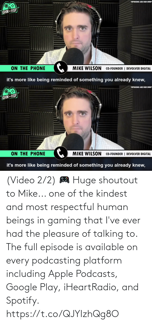 Ever Had: (Video 2/2) 🎮 Huge shoutout to Mike... one of the kindest and most respectful human beings in gaming that I've ever had the pleasure of talking to. The full episode is available on every podcasting platform including Apple Podcasts, Google Play, iHeartRadio, and Spotify. https://t.co/QJYIzhQg8O