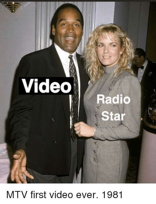 radio star: Videos  Radio  Star MTV first video ever. 1981
