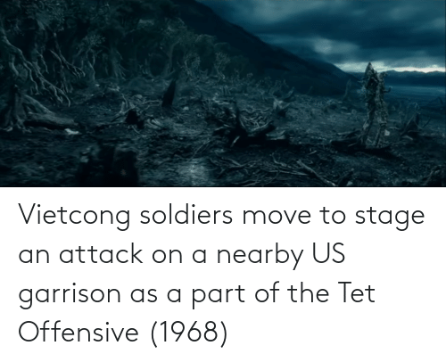 Move To: Vietcong soldiers move to stage an attack on a nearby US garrison as a part of the Tet Offensive (1968)