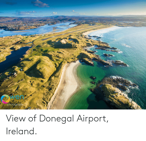 Ireland: View of Donegal Airport, Ireland.