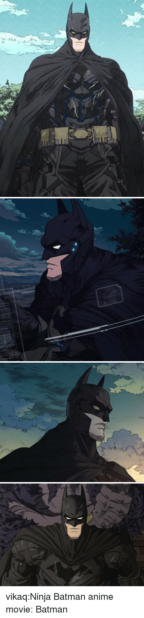 Anime, Batman, and Tumblr: vikaq:Ninja Batman anime movie: Batman