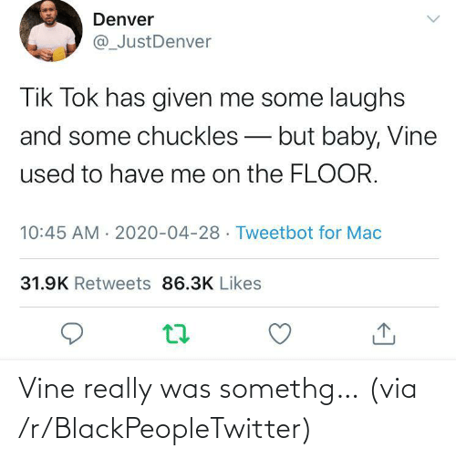 Vine: Vine really was somethg… (via /r/BlackPeopleTwitter)