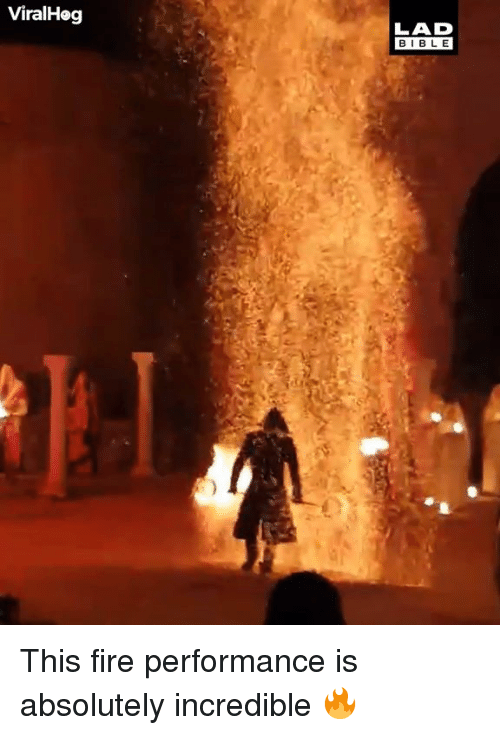 Dank, Fire, and 🤖: ViralHog  LAD  BIBL E This fire performance is absolutely incredible 🔥