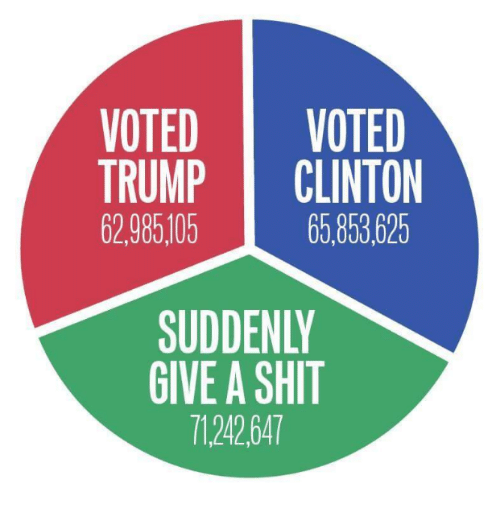 Trump Clinton: VOTED  VOTED  TRUMP  CLINTON  62.985105  65.853625  SUDDENLY  GIVE A SHIT  7124264T