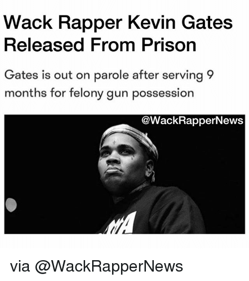 wack rapper kevin gates released from prisorn ates is out on parole