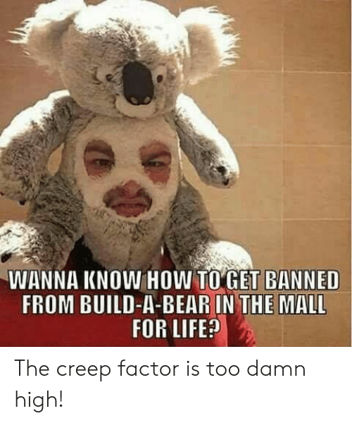 Build a Bear: WANNA KNOW HOW TO GET BANNED  FROM BUILD-A-BEAR IN THE MALL  FOR LIFE? The creep factor is too damn high!