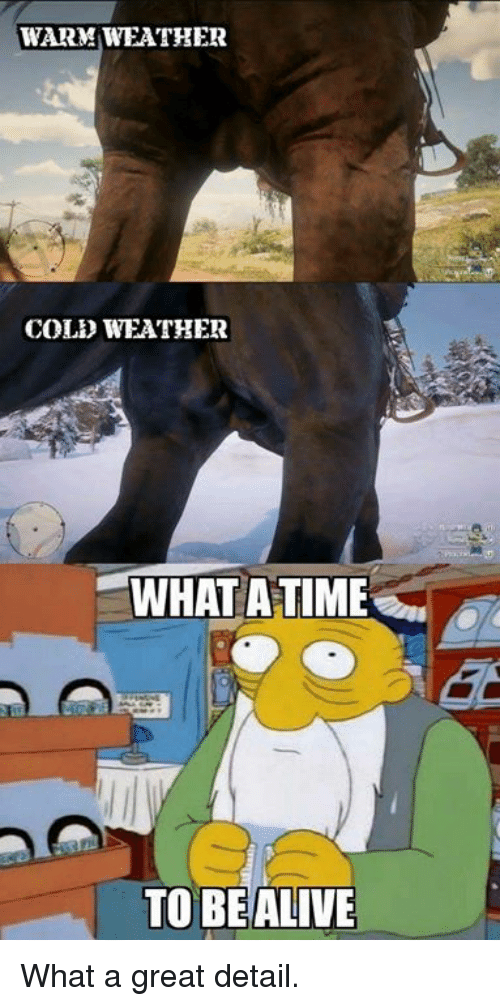 Cold Weather: WARM WEATHER  COLD WEATHER  WHAT ATIME  TO BEALIVE What a great detail.