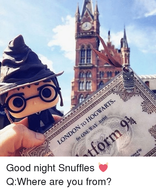 iva: WARTS-  LONDON TO  ONTO  ONE  :IVA  WANTS  tform  sion  ssftQF  /A  05  0 Good night Snuffles 💓 Q:Where are you from?