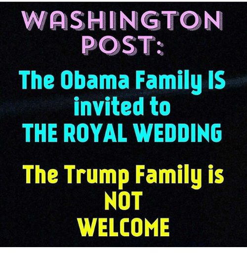 WASHINGTON POST The Obama Family IS Invited To THE ROYAL