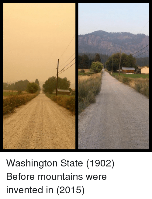 washington state: Washington State (1902) Before mountains were invented in (2015)