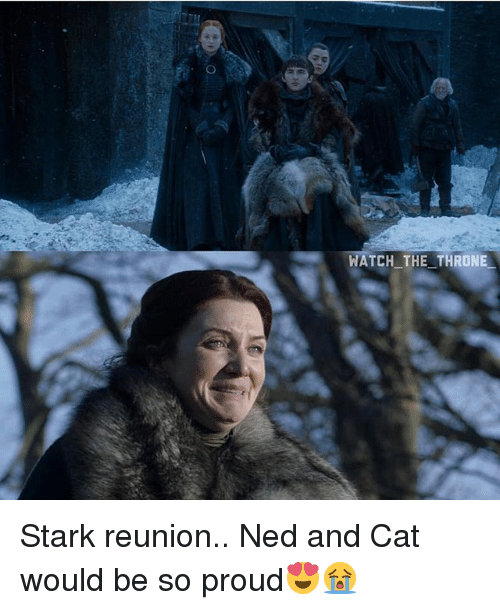 Starked: WATCH THE THRONIE Stark reunion.. Ned and Cat would be so proud😍😭
