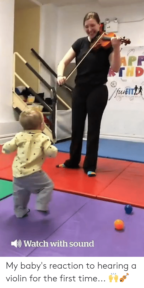 violin: )Watch with sound My baby's reaction to hearing a violin for the first time... 🙌🎻