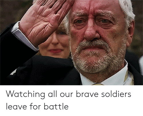 Brave Soldiers: Watching all our brave soldiers leave for battle