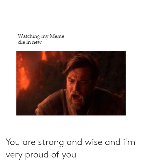 Meme, Proud, and Strong: Watching my Meme  die in new You are strong and wise and i'm very proud of you