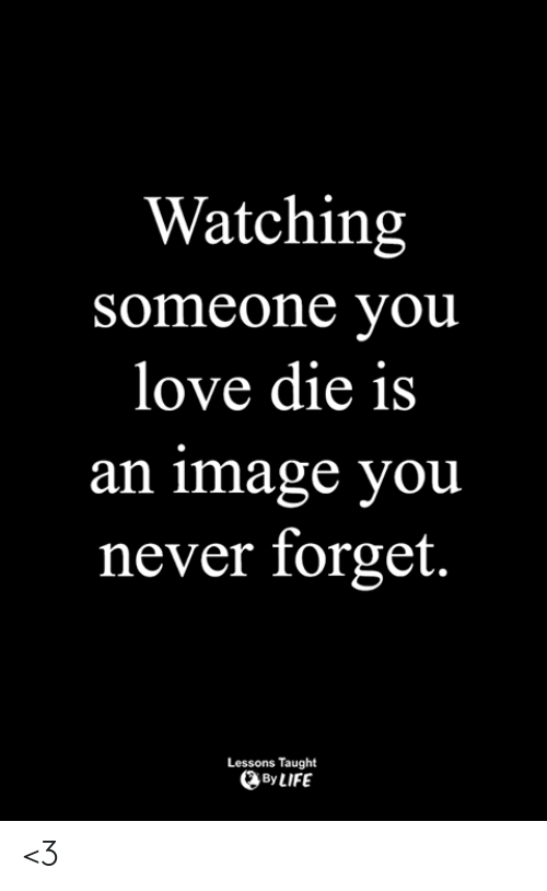 Life, Love, and Memes: Watching  someone vou  love die is  an image you  never forget.  Lessons Taught  By LIFE <3