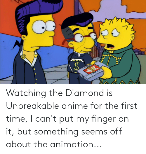 Animation: Watching the Diamond is Unbreakable anime for the first time, I can't put my finger on it, but something seems off about the animation...