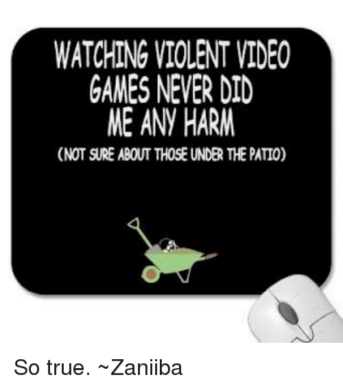 why violent video games does not In todays video game we talk about video games and whether or not they are bad for people to play violent video games have gotten a lot of do you know the reasons why violent video games are good there's a study that shows that crime goes down the weekends new violent movies come out.