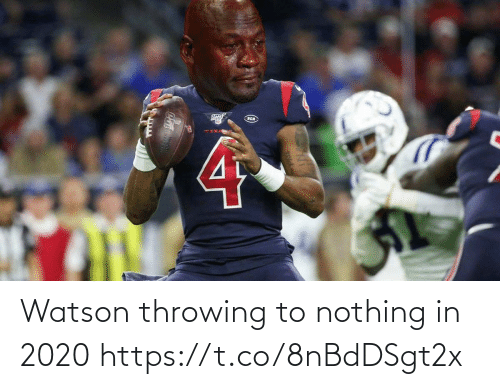 throwing: Watson throwing to nothing in 2020 https://t.co/8nBdDSgt2x