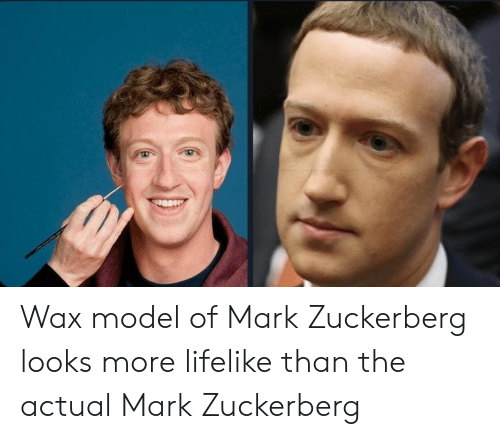Mark Zuckerberg, Zuckerberg, and Wax: Wax model of Mark Zuckerberg looks more lifelike than the actual Mark Zuckerberg