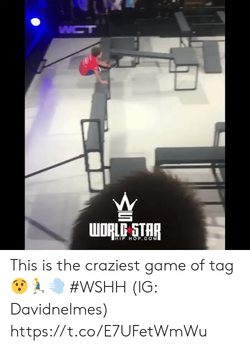 wshh: WCT  WORLC STAR  HIP HOP.COM This is the craziest game of tag 😯🏃‍♂️💨 #WSHH (IG: Davidnelmes) https://t.co/E7UFetWmWu