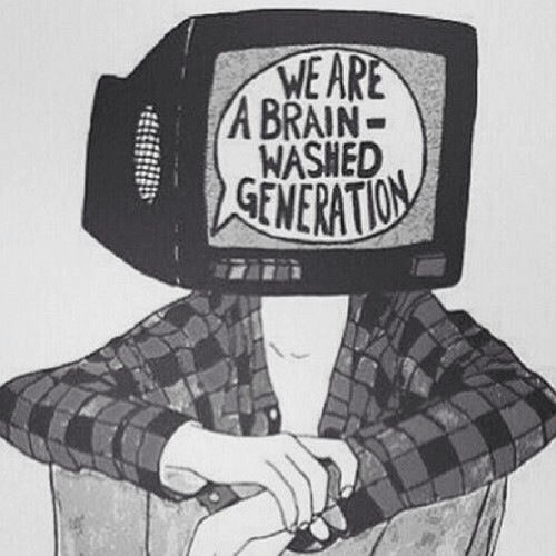 Brain, Generation, and Washed: WE ARE  A BRAIN-  WASHED  GENERATION