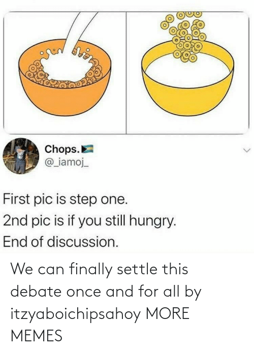 Settle: We can finally settle this debate once and for all by itzyaboichipsahoy MORE MEMES