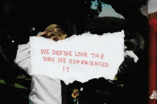 Love, Define, and Experienced: WE DEFINE LOVE TH E  WAY WE EXPERIENCED  1t