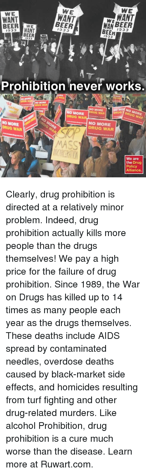 drug prohibition the solution that never worked President trump came out in support of the states act to end federal marijuana prohibition in states that have legalized cannabis  the federal high intensity drug  it has never worked the.