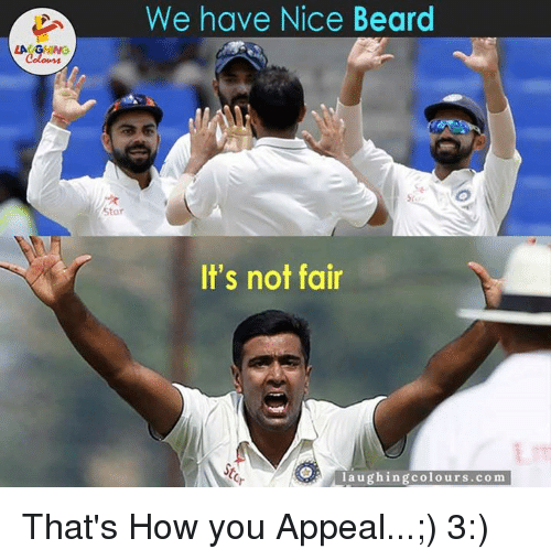 Its Not Fair: We have Nice Beard  Star  It's not fair  laughing colo urs .com That's How you Appeal...;) 3:)
