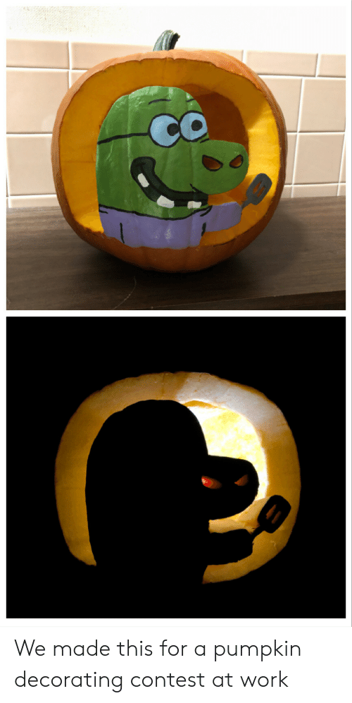 Pumpkin: We made this for a pumpkin decorating contest at work
