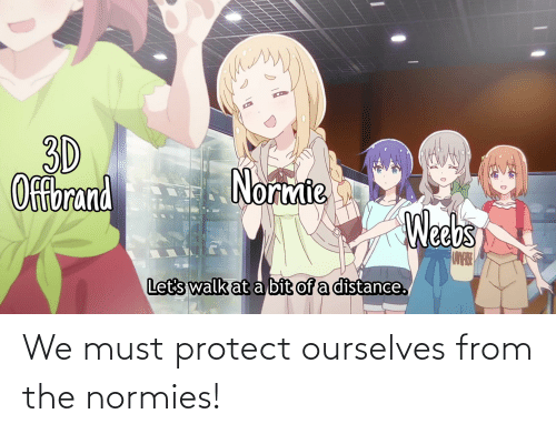 Must Protect: We must protect ourselves from the normies!