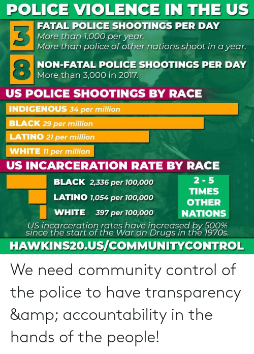 Of The People: We need community control of the police to have transparency & accountability in the hands of the people!